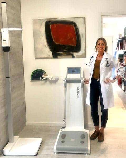 Claudia Venturini con statimetro ed InBody 770
